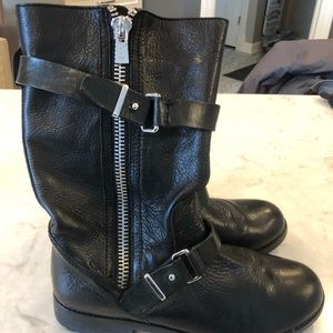 Coach Leather Mid Calf Boot